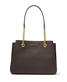 Teagen Signature Long Drop Satchel