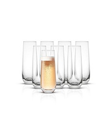 Milo Champagne Glasses, Set of 8