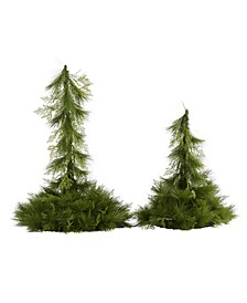 Table Top or Hanging Artificial Christmas Decor, Set of 2