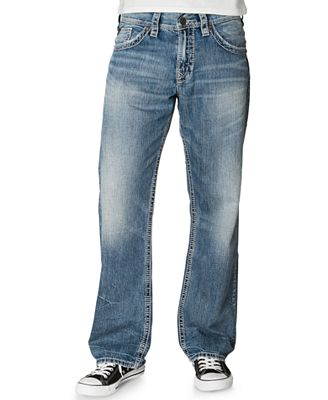 Silver Jeans, Gordie Loose-Fit Straight-Leg - Jeans - Men - Macy's