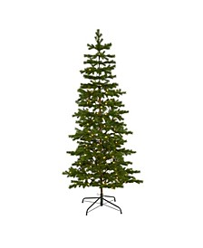 Big Sky Spruce Artificial Christmas Tree with 200 Clear Warm Multifunction LED Lights and 265 Bendable Branches