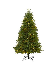 Sun Valley Fir Artificial Christmas Tree with 200 Clear LED Lights