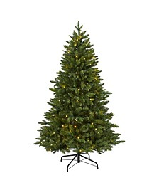 New Hampshire Fir Artificial Christmas Tree with 150 LED Lights