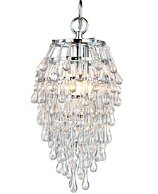 Elements Crystal Teardrop Mini Chandelier