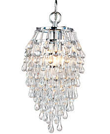 AFLighting Elements Crystal Teardrop Mini Chandelier