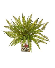 Fern Artificial Plant in Floral Planter