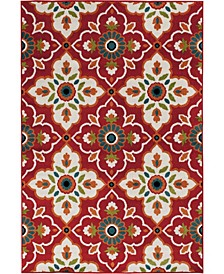 "Tropicana Bluffton Coral 5' x 7'3"" Area Rug"