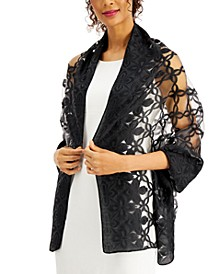 INC Lattice Lace Evening Wrap, Created for Macy's