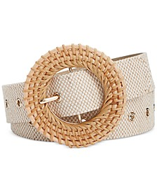 INC Wood-Buckle Belt, Created for Macy's