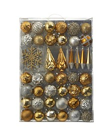 Holiday Shatterproof, 52 Count Christmas Tree Ornament Box Set