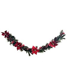 Martha Stewart Red Poinsettia Garland, Created for Macys