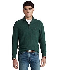 Men's Cotton Quarter-Zip Sweater