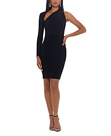 Asymmetrical One-Shoulder Sheath Dress