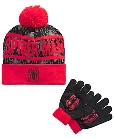 Boys 2-Pc. Spiderman Hat & Gloves Set