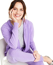 Cashmere Zip-Front Hoodie, Created for Macy's