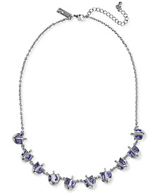 "INC Silver-Tone Dreidel Collar Necklace, 18"" + 3"" extender, Created for Macy's"