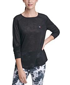 Cutout Contrast T-Shirt