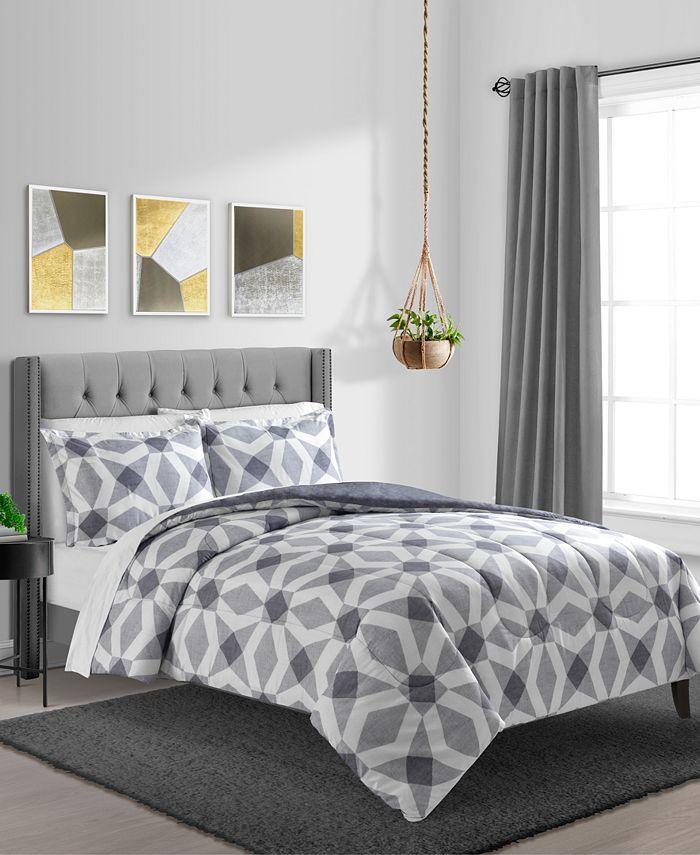 Sunham - Urban Geo 3-Pc Comforter Set