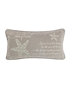 "Kailua Starfish Script Pillow, 12"" x 14"""
