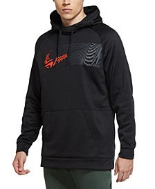 Men's Wavy Logo-Print Therma Training Hoodie