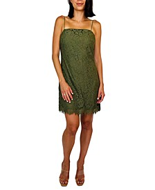 Juniors' Spaghetti Strap Lace Dress