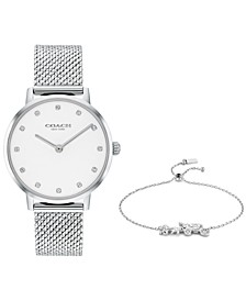 Women's Audrey Stainless Steel Mesh Bracelet Watch 35mm Gift Set
