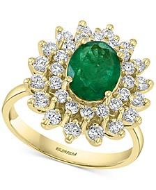 EFFY® Emerald (1-1/2 ct. t.w.) & Diamond (1 ct. t.w.) Ring in 14k Gold