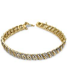 Diamond Angled Link Bracelet (2 ct. t.w.) in 10k Gold