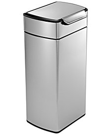simplehuman Brushed Stainless Steel 30 Liter Fingerprint Proof Touch Bar Trash Can