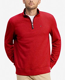 Men's Winston Quarter Zip Knit Pullover, Created for Macy's