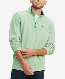 Men's TH Flex French Rib Quarter-Zip Knit Pullover
