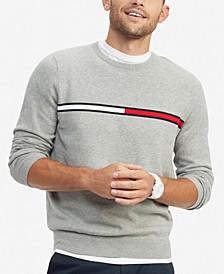 Men's Logo Crewneck Cotton Sweater