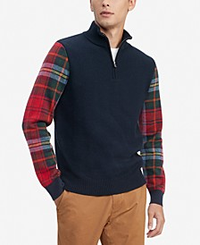 Men's Edwards Regular-Fit Colorblocked 1/4-Zip Sweater