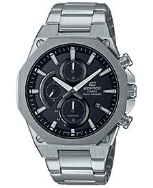 Analog Slim Stainless Steel Solar Powered Bracelet Watch 49mm