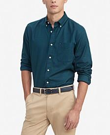Men's Syd Classic-Fit Mini-Tartan Shirt