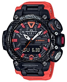 Men's Analog Digital Gravitymaster Connected Orange Resin Strap Watch 63mm