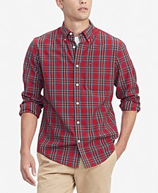 Men's Dylan Classic-Fit TH Flex Stretch Tartan Shirt