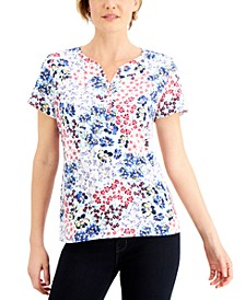 Printed Henley Top, Created for Macy's