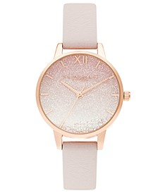 Women's Under The Sea Pink Leather Strap Watch 30mm