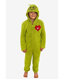 Grinch Boys and Girls Sherpa Union Suit