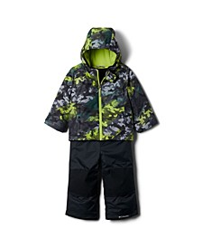 Toddler Girls Frosty Slope Jacket and Bib Set