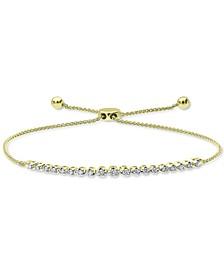 Diamond Bolo Bracelet (1/4 ct. t.w.) in 14k Gold or 14k Rose Gold