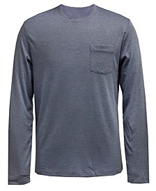 Men's AlfaTech Long-Sleeve Pocket T-Shirt, Created for Macy's