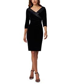 Side-Ruched Velvet Dress