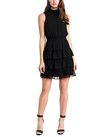 MSK Smocked Tiered Fit & Flare Dress