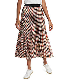 Riley & Rae Avery Plaid Pleated Midi Skirt, Created for Macy's