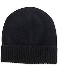 Women's Cashmere Cuffed Beanie Hat, Created for Macy's