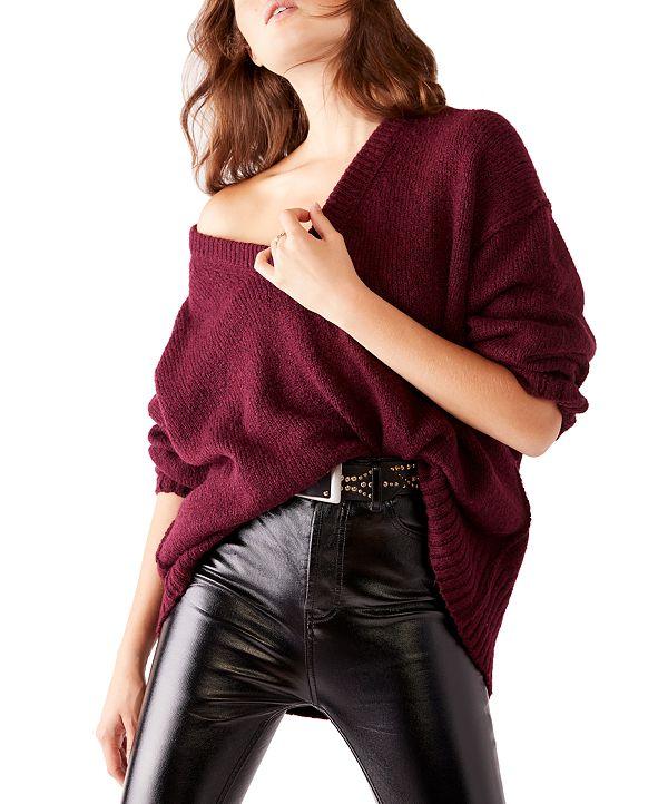 Free People Brookside Dolman-Sleeve Tunic Sweater