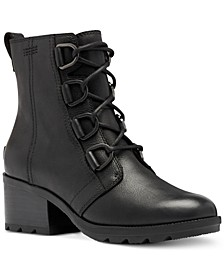 Women's Cate Waterproof Lace-Up Lug Sole Booties