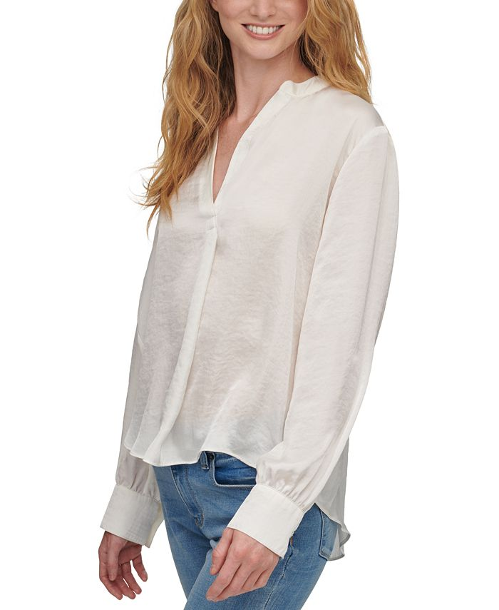 DKNY - Long-Sleeve V-Neck Top
